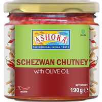 Ashoka Schezwan Chutney with Olive Oil (6.7 oz bottle)