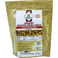 24 Mantra Organic Roasted Chana Snack - Salted (10 oz pack)