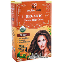 Ancient Veda Organic Henna Hair Color- Brown (5.30 oz box)