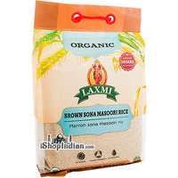 Laxmi Organic Brown Sona Masoori Rice - 10 lbs (10 lbs bag)