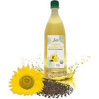 Jiva Organics Sunflower Oil - 1 liter (1 liter bottle)