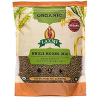 Laxmi Organic Whole Moong (Green Gram Whole) - 2 lbs (2 lbs bag)
