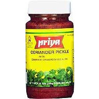 Priya Coriander Pickle with Garlic (300 gm bottle)