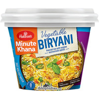 Haldiram's Instant Vegetable Biryani - Basmati Rice with Veggies and Aromatic Spices (2.46 oz pack)