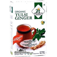 24 Mantra Organic Tulsi Ginger Tea (1.75 oz box)
