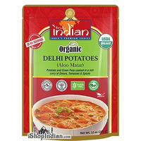 Truly Indian Organic Delhi Potatoes (Aloo Matar) (Ready-to-Eat) (10 oz pouch)