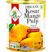 24 Mantra Organic Kesar Mango Pulp - No Added Sugar