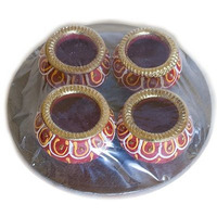 Gujarathi Matki Diya without Wax - 4 Pack (4 pack)