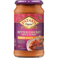 Patak's Spicy Butter Chicken Simmer Sauce (Hot) (15 oz. bottle)