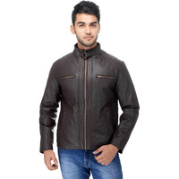Le Alba Men's Rugged Brown Riding Bomber Jacket.