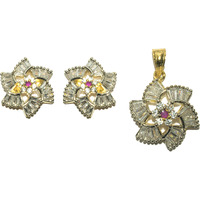 Kearth - Sparkling star shaped pendant set emballished with sparkling white sapphire.