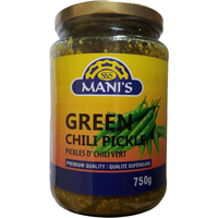 Mani's Green Chilli Pickle - 750 Gm