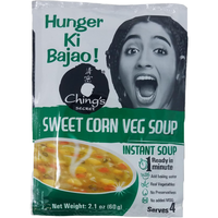 Ching's Instant Mix Sweet Corn Vegetable Soup (Family Pack) - 60 Gm