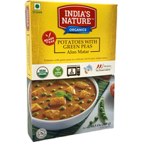 India's Nature Ready To Eat Aloo Matar Organic - 300 Gm