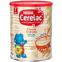 Nestle Cerelac 5 Cereals with Milk - 400 Gm