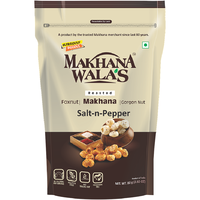 Makhana Walas Roasted Makhana Salt & Pepper - 60 Gm