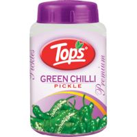 Tops Green Chilli Pickle - 950 Gm