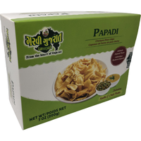 Garvi Gujarat Papdi Gathiya (Box Pack) Incl. Kadhi & Chili Pickle - 200 Gm