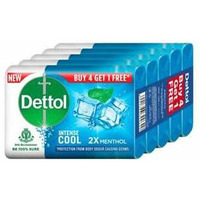 Dettol 4 Pack Soap [Get 1 Free] - 125 Gm each