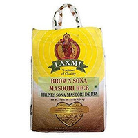 Laxmi Brown Sona Masoori Rice - 10 Lb