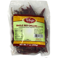 Telugu Whole Guntur Chilli W/Stem - 200 Gm