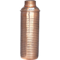 850ml / 28.74oz - Prisha India Craft B. Pure Copper Lining Bisleri Design Bottle - Storage Drinking Water Home Hotel Restaurant Benefit Yoga Ayurveda Healing - CHRISTMAS GIFT ITEM