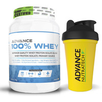 Advance Nutratech 100% Whey 1kg( 2.2 lbs) vanilla with Free Shaker