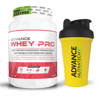 Advance Nutratech Advance Whey Pro Protein Powder 1Kg (2.2Lbs) Vanilla + Free Shaker