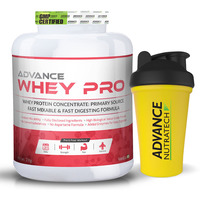 Advance Nutratech Whey Protein Pro Powder 2kg (4.4LBS) vanilla Flavor + Free shaker spe...
