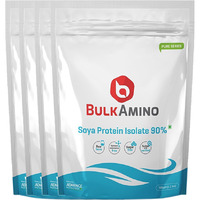 Advance Nutratech BulkAmino Soya Protein Isolate 90% Powder 2kg (4.4lbs) Unflavoured(4 Pack of ...