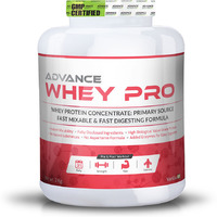 Advance Nutratech Whey Protein Pro Powder 2kg (4.4LBS) vanilla Flavour , Added Enzymes