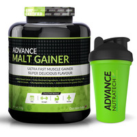 Advance Nutratech Malt Gainer 4kg (8.8 Lbs) Chocolate Malt Gainer With Free Shaker
