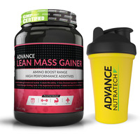 Advance Nutratech Lean Mass Gainer 1Kg (2.2Lbs) Banana + Free Shaker