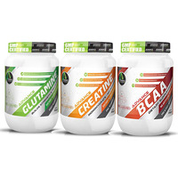 Advance Nutratech Creatine unflavoured 300grm + Glutamine 300gm Unflav + BCAA 200Gm Unf...