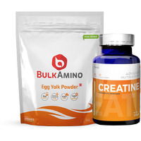 Advance Nutratech BulkAmino Egg Yolk Powder 300gram Unflavored&Creatine Monohydrate unflavored 100g