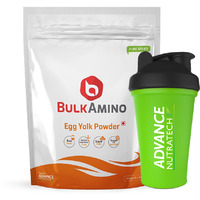 Advance Nutratech BulkAmino Egg Yolk Powder 500gram(1.1lbs) Unflavoured With Free Shaker