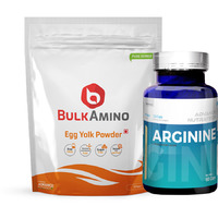 Advance Nutratech BulkAmino Egg Yolk Powder 300gram Unflavored&Arginine Aminos Pre-workout 60 Capsules
