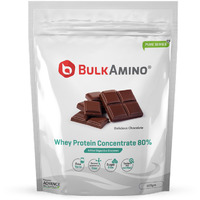 Advance Nutratech Bulkamino Whey Protein Concentrate 80 % Raw Protein 500g Chocolate standard Powder