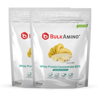 Advance Nutratech Bulkamino Whey Protein Concentrate 80 % Raw Protein 500 Gram Banana Supplement Powder(pack of 2)1 kg