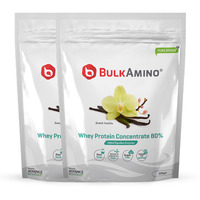 Advance Nutratech Bulkamino Whey Protein Concentrate 80 % Raw Protein 500 Gram Vanilla Powder(pack of 2)1 kg