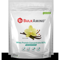 Advance Nutratech Bulkamino Whey Protein Concentrate 80 % Raw Protein 500g Vanilla flavour standard powder