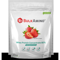 Advance Nutratech Bulkamino Whey Protein Concentrate 80 % Raw Protein 500gm Strawberry Supplement Powder