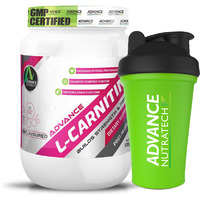 Advance Nutratech L-Carnitine Post Workout 200gm unflavoured raw powder With Free Shaker