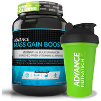 Advance Nutratech Mass Gain Booster 2kg(4.4lbs) Chocolate with Shaker 600ml