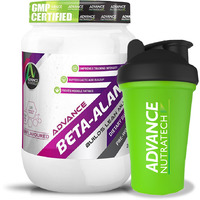 Advance Nutratech Combo Beta-Alanine Pre-workout 200 gm (0.44lbs ) Unflavoured With Shaker