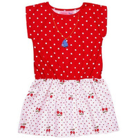 Always Kids Girl's Red Dot Heather Dress