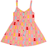 Always Kids' Pink Ice-cream Ruby Printed Dress