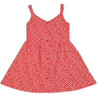 Always Kids' Red Heart Ruby Printed Dress