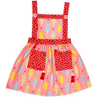 Always Kids' Pink ice-cream lily Printed Dress