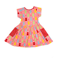 Always Kids' Long Weekend Pink Ice-cream Printed Dress